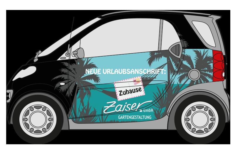 Fahrzeugbeschriftung Gestaltung Ulm