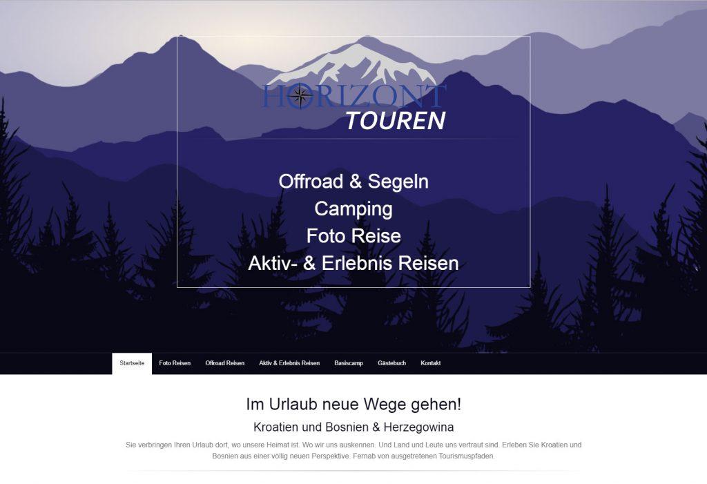Webseite für Reiseunternehmen