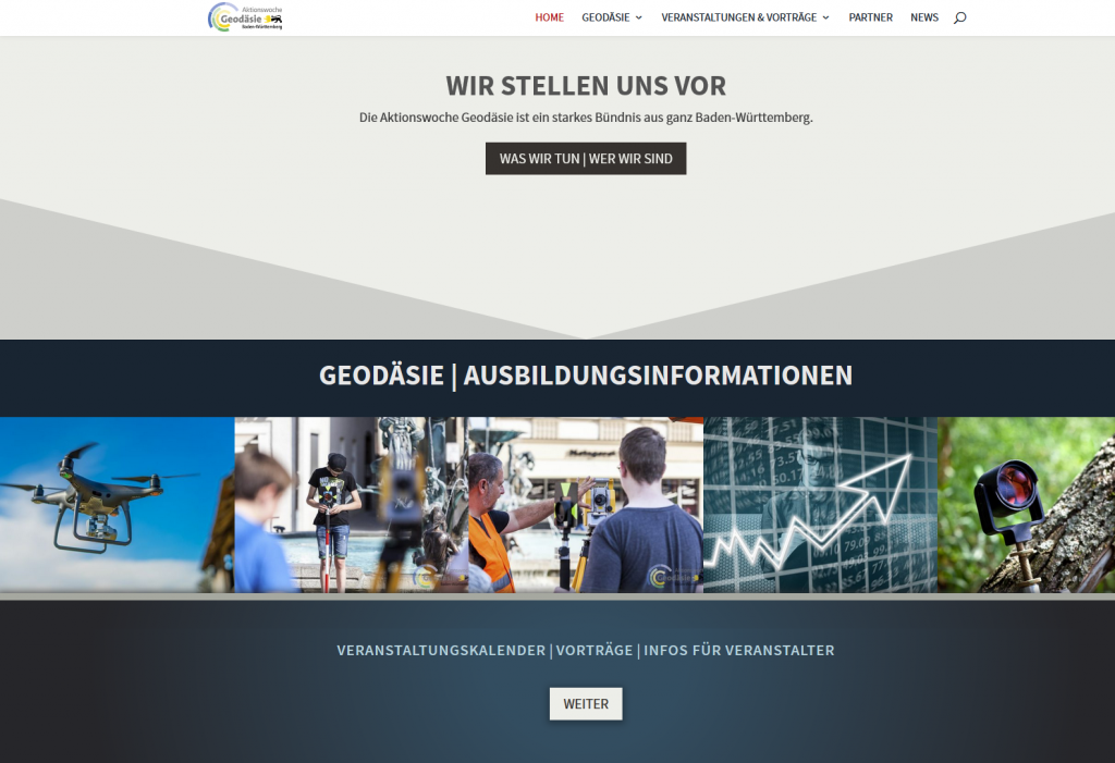 Internetseite Geodäsie Baden Würtemberg