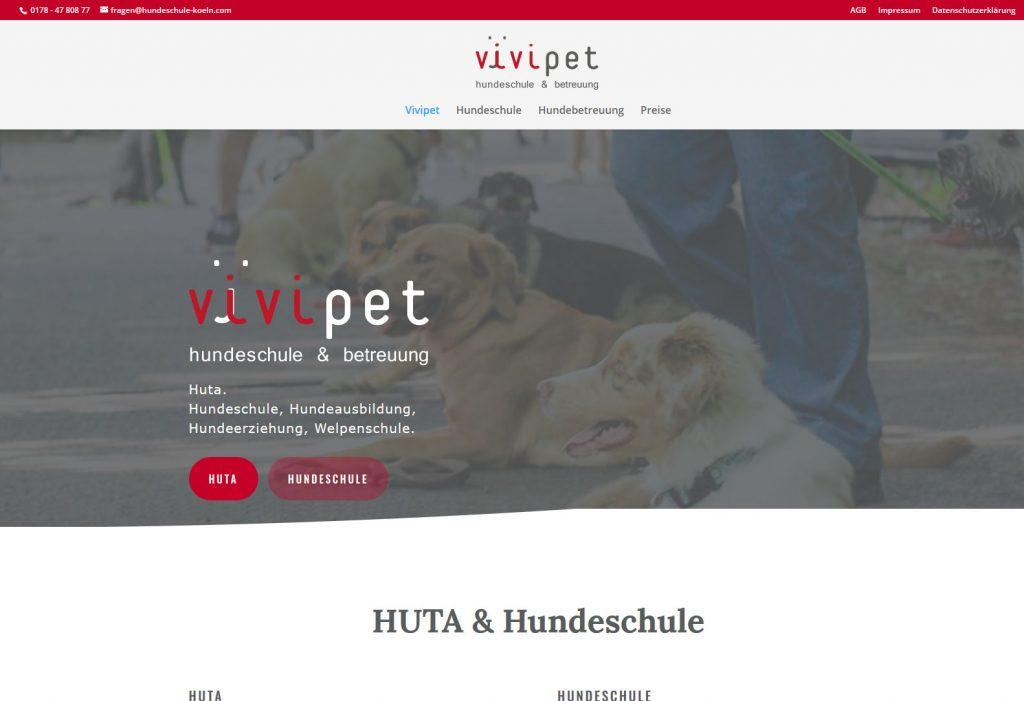 Internetseiten für Hundeschulen